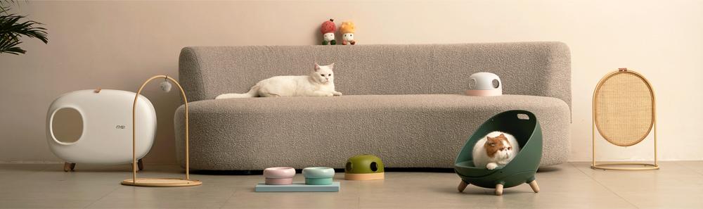 猫・ネコ 強化段ボール爪とぎ ベッド・ソファ・ハウス・トイレ フードボウル HEBENA