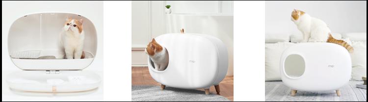 猫トイレ スコップ付き 猫砂飛び散り防止 大型 HEBENA ネコの使用風景